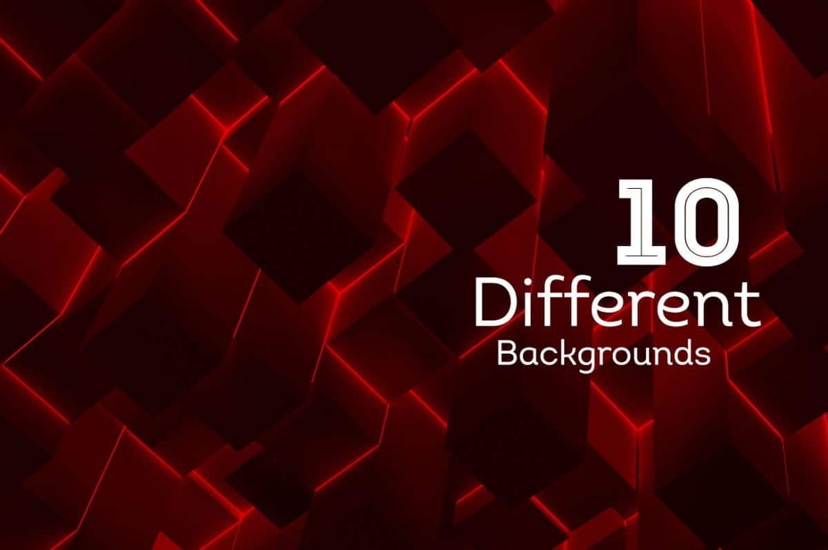 10 Backgrounds 3D