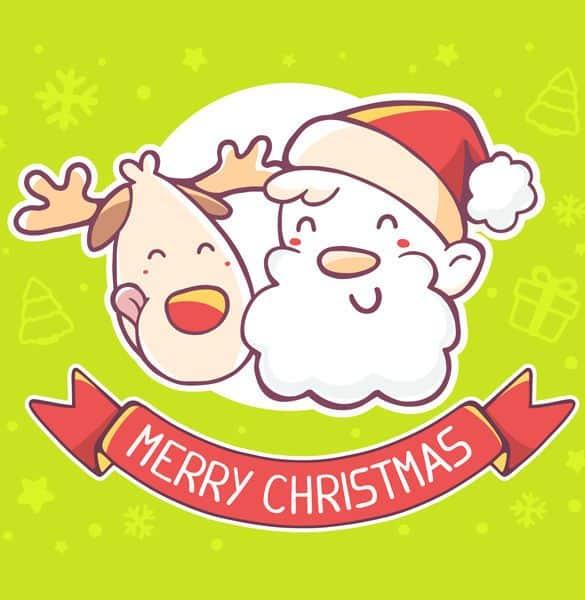 4 Vector Ông Già Noel và Tuần Lộc
