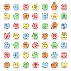 Emoji Phong Cách Phẳng