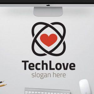 Logo tình yêu công nghệ