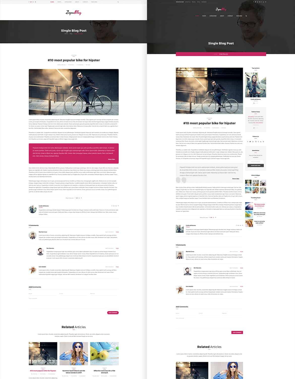 Magazine PSD Template