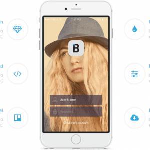 Mobile App Landing Page 825x510