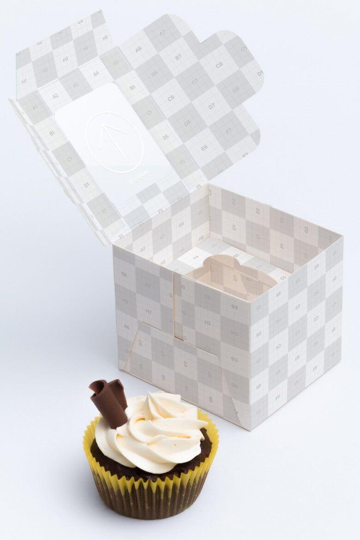 Mockup hộp bánh PSD
