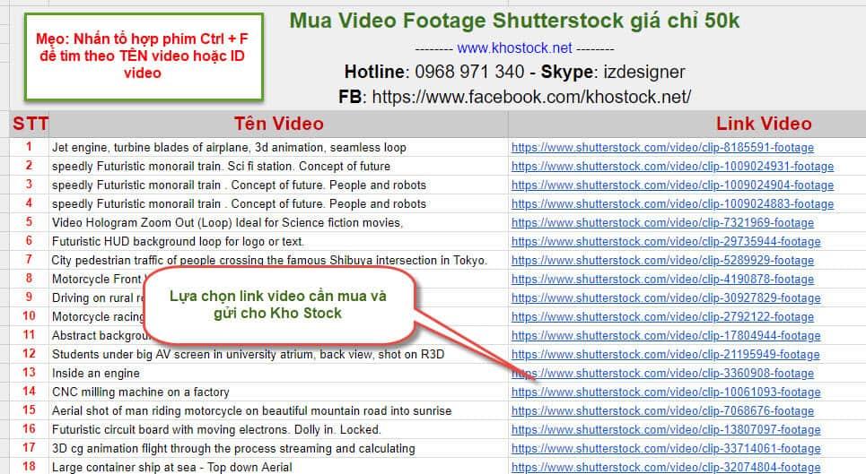 Mua Video Footage Shutterstock giá rẻ chỉ 50k tại Kho Stock