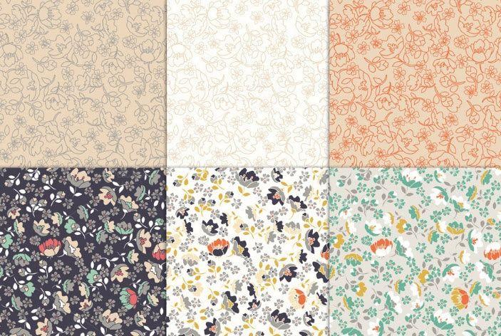 Pattern Hoa Nền Giấy