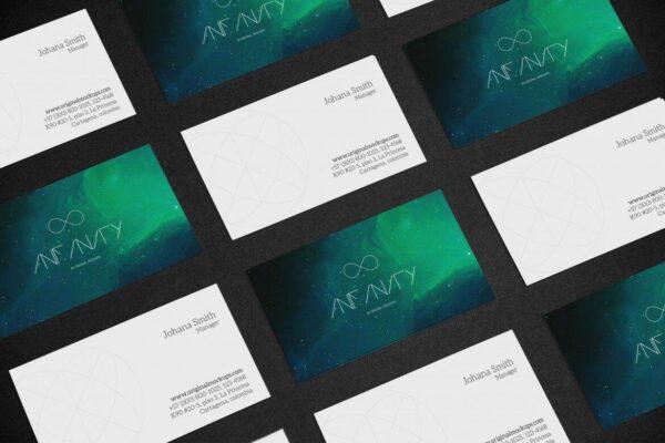 PSD Business Card Mockup 5