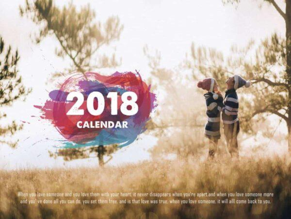 PSD Lịch để bàn 2018