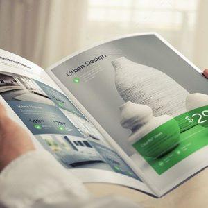 PSD Mockup Brochure – Tạp Chí