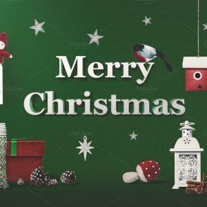 PSD Mockup Giáng Sinh