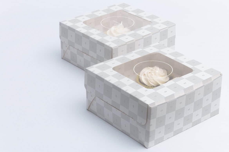 PSD Mockup Hộp Bánh