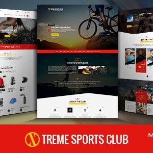 Psd Template Sports Club