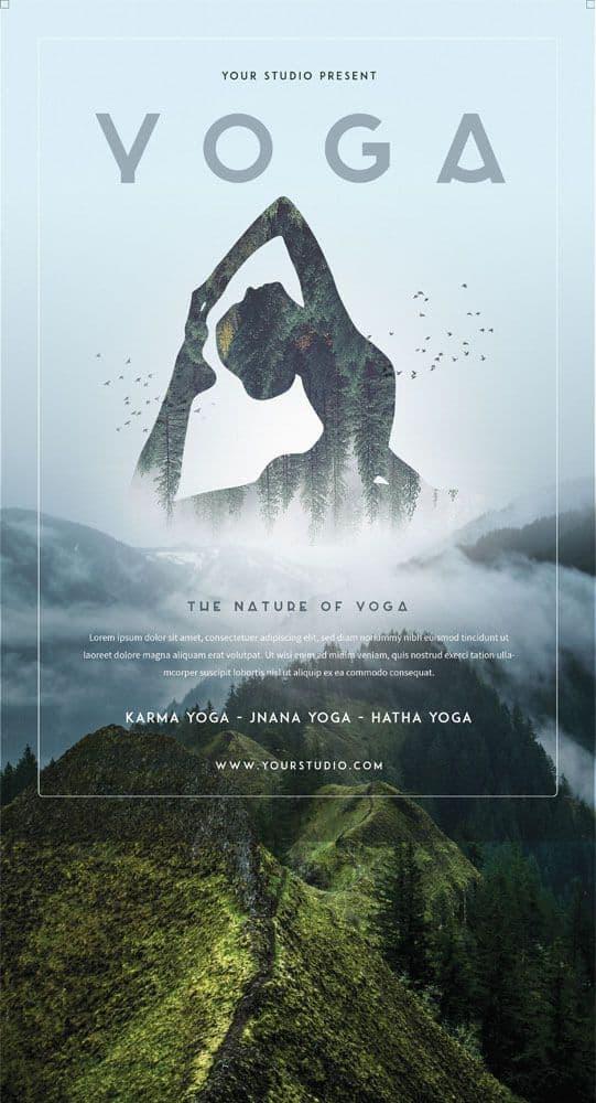 PSD Tờ Rơi Yoga