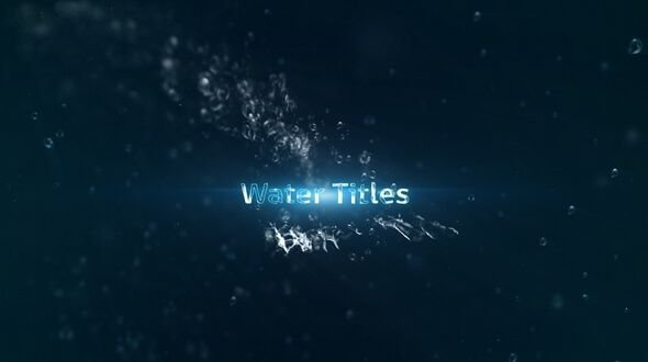Water Titles After Effects