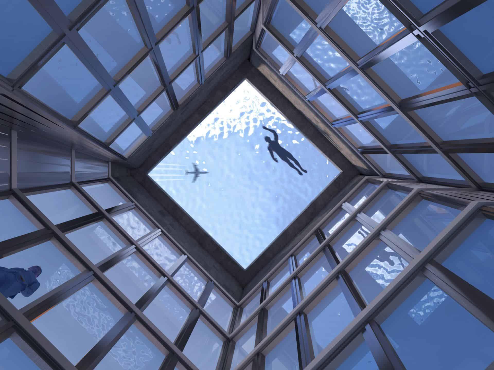 Bể bơi vô cực 360 thiết kế bởi công ty Compass Pools tại London