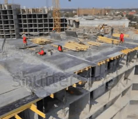 Video Full HD công trường xây dựng nhìn từ trên cao