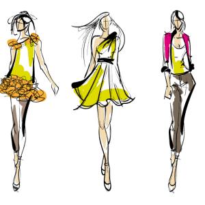 Vector mẫu thời trang sành điệu miễn phí