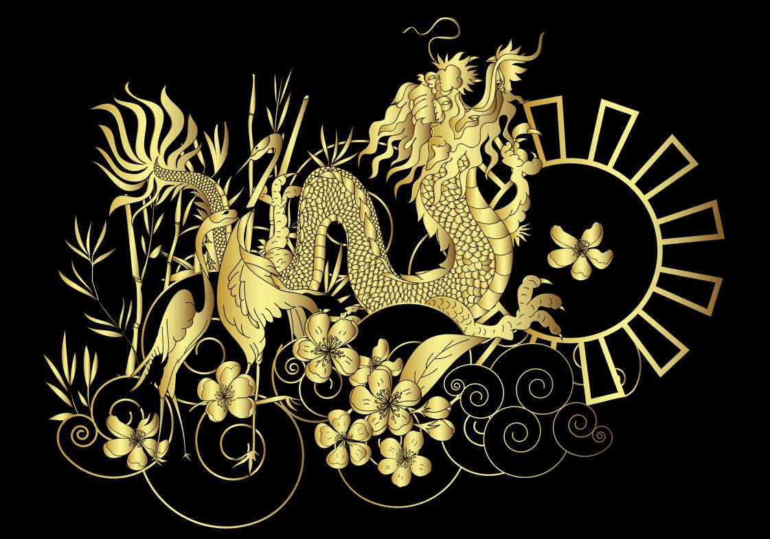 Vector rồng vàng
