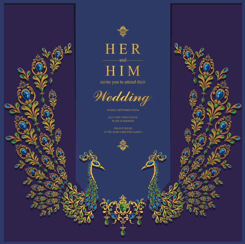 Vector thiệp mời đám cưới