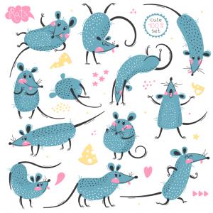 13 vector con chuột mới lạ dành cho anh em designer