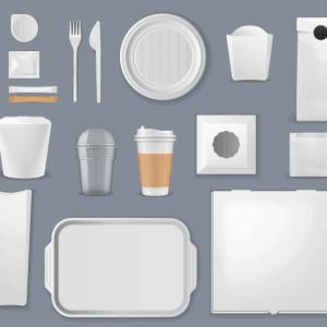 Mockup đồ uống và thực phẩm vector