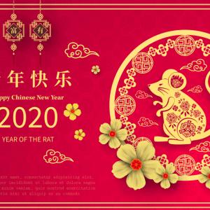 Vector Tết 2020 phong cách Trung Hoa