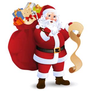 4 Vector Ông Già Noel dành cho Giáng Sinh