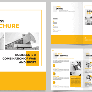 Brochure Template PSD 8 Trang - KS490