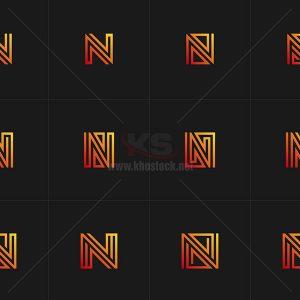 12 Logo chữ N cách điệu - KS664