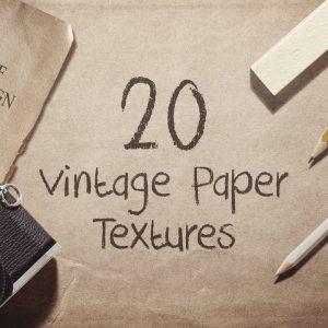 20 Textures Vintage Paper - KS561