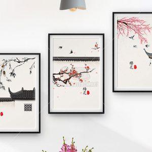 3 Bức tranh trang trí phòng khách đẹp - KS655