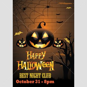 Happy Halloween poster template - KS623