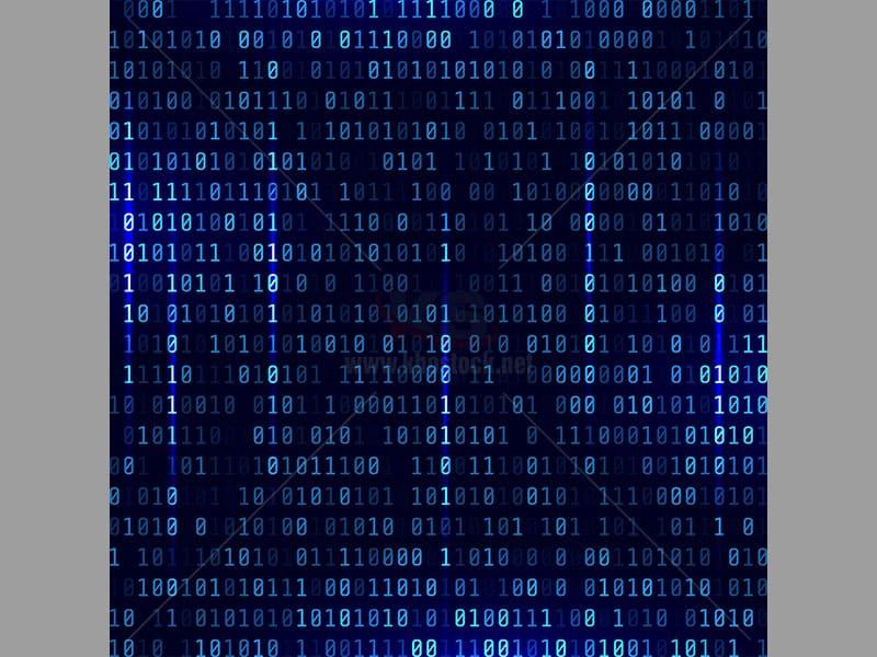 Background mã nhị phân nền xanh – KS535
