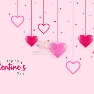 Background Valentine với trái tim - KS630