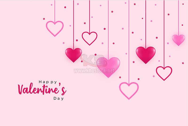 Background Valentine với trái tim - KS630