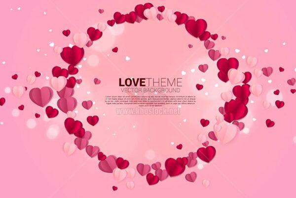 Background vòng tròn trái tim Valentine - KS633