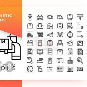 Bộ icons logistic chất lượng cao - KS572
