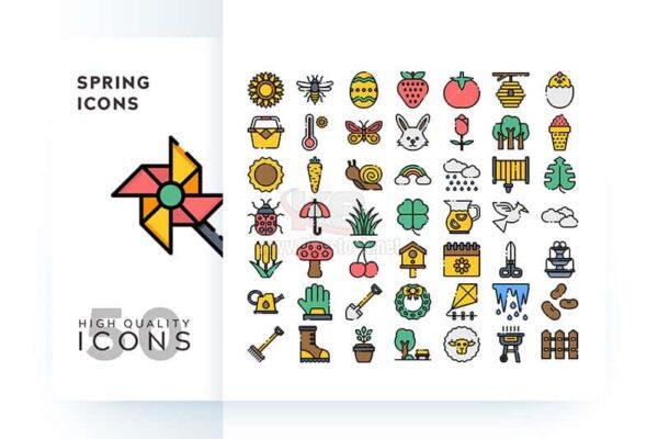 Bộ icons mùa xuân tuyệt đẹp - KS571