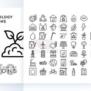 Bộ icons năng lượng sinh thái – KS575