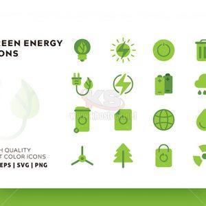 Bộ icons năng lượng xanh – KS580