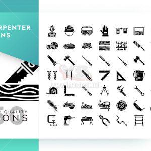 Bộ icons vector thợ mộc - KS574