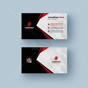 Business Card đen trắng điểm đỏ – KS553