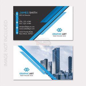 Business Card hiện đại màu xanh trắng - KS657