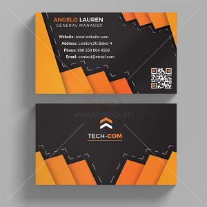 Business Card màu cam và đen sáng tạo - KS659