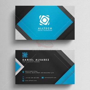 Business Card PSD xanh đen - KS502