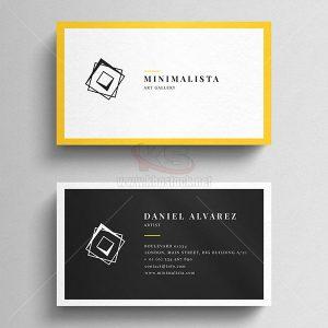 Business Card sang trọng viền vàng - KS507