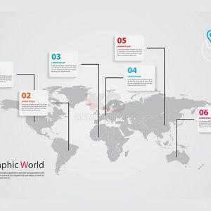 Infographic bản đồ thế giới - KS597