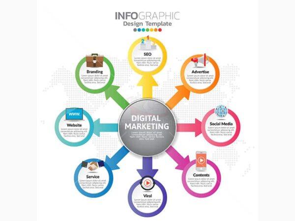 Infographic digital marketing Vector - KS609