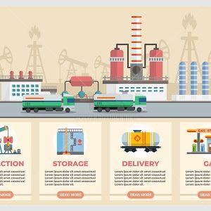 infographic khai thác dầu mỏ - KS599