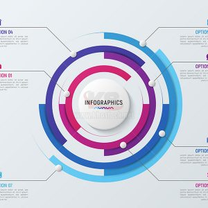 Vector infographics vòng tròn dữ liệu - KS594