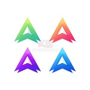 Logo chữ A với 4 màu sắc tuyệt đẹp - KS663
